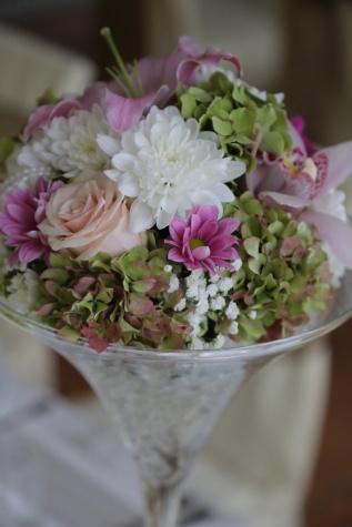 Vase, Kristall, Blumen, Dekoration, Hochzeit, Blume, elegant, Blumenstrauß, stieg, Blatt