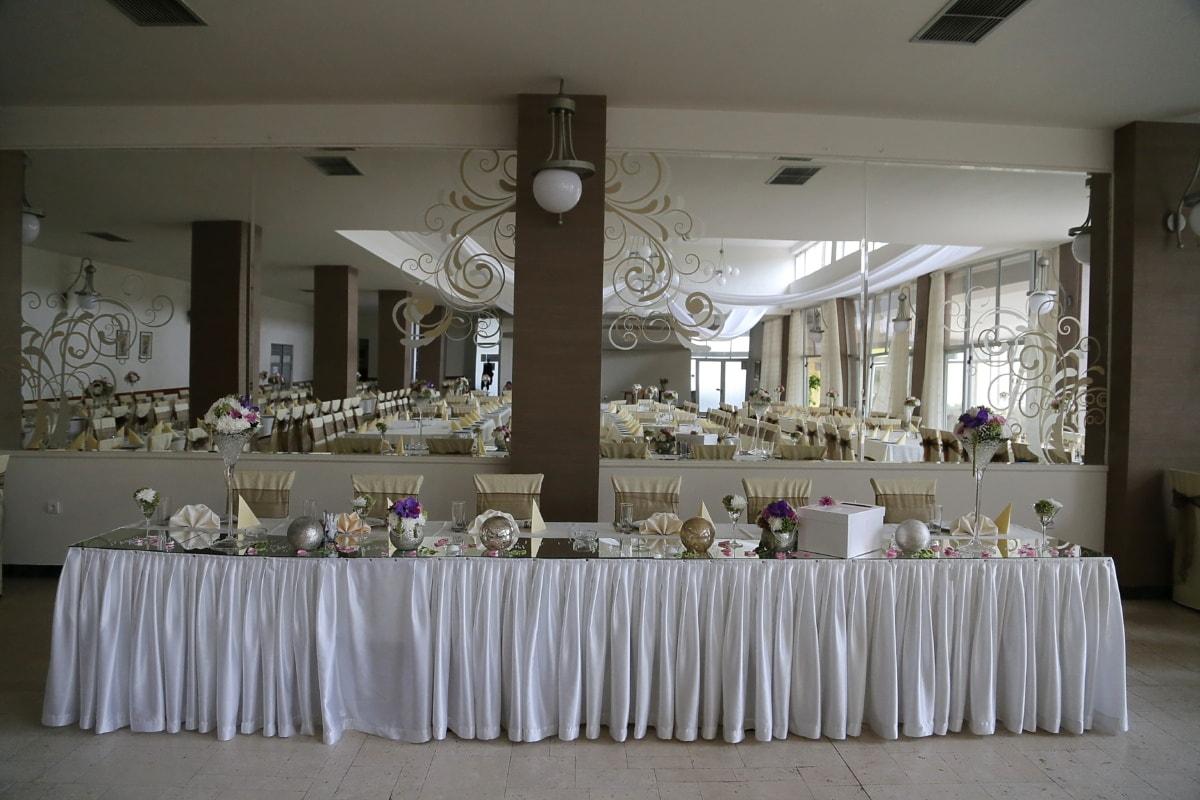 vide, salle de mariage, Design d'intérieur, chaise, meubles, chambre, mariage, table, réception, vaisselle