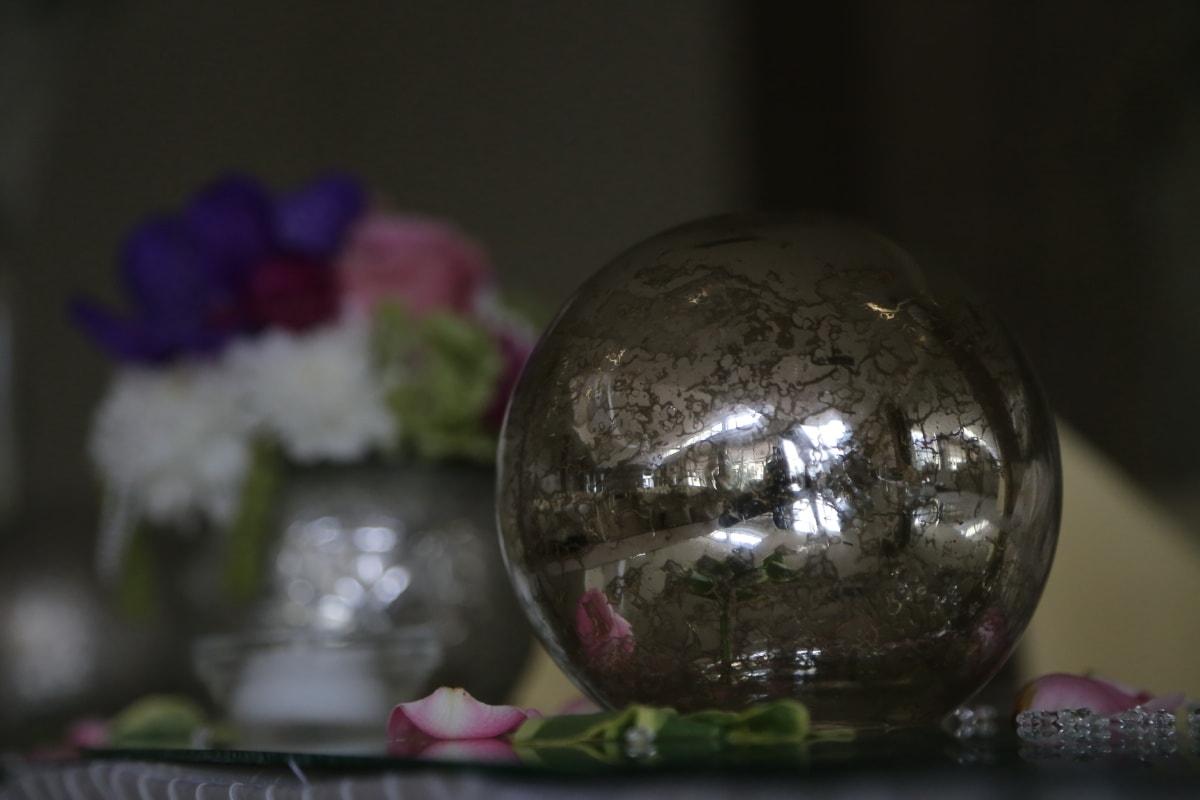 tour, Crystal, sphère, réflexion, nature morte, ombre, brillante, Globe, verre, noir