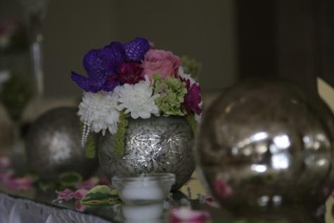 ainda vida, vaso, esfera, arranjo, decoração, flores, buquê, design de interiores, dentro de casa, vela