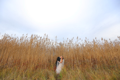 countryside, grass, groom, bride, dry season, rural, summer, landscape, nature, girl