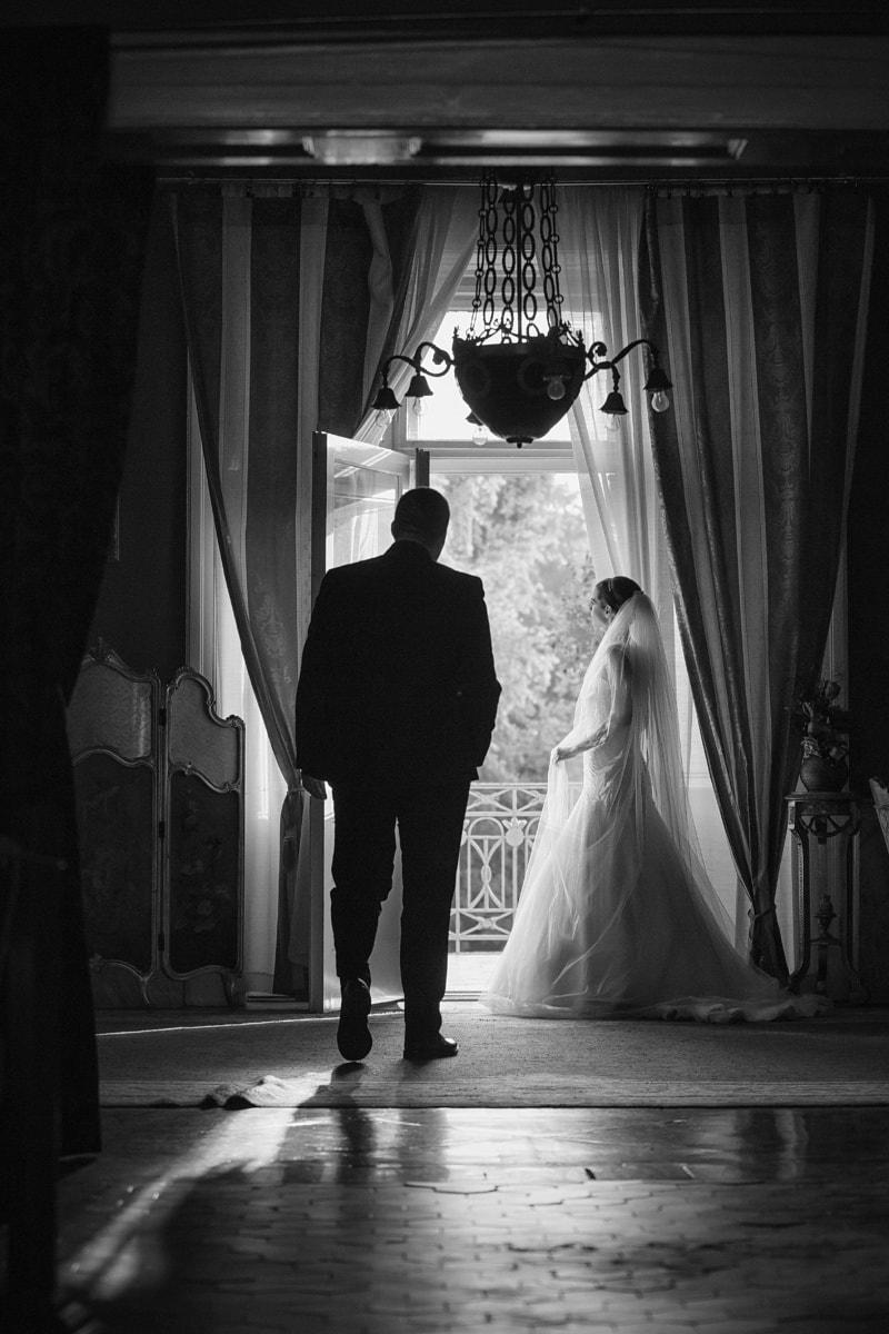 spektakuläre, Braut, Innendekoration, Hochzeitskleid, Bräutigam, Gentleman, Dame, Kleid, Person, Mode
