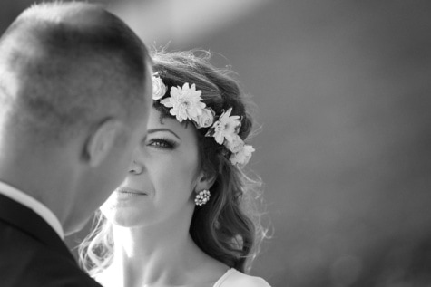 portrait, face, monochrome, wedding, bride, hair, people, love, groom, woman