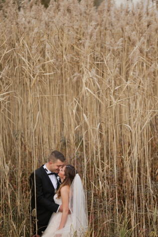 wedding, photography, bride, groom, wilderness, summer season, nature, field, straw, rural