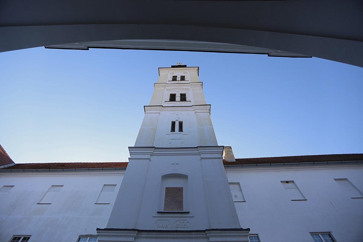 Талль, церковні вежі, Церква, Перспектива, монастир, Сербія, Православні, Архітектура, хрест, вікно
