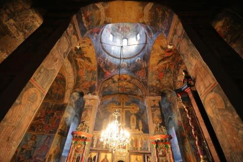монастир, Візантійський, внутрішнє оздоблення, всередині, інтер'єр, Православні, середньовіччя, Сербія, Храм, поклоніння