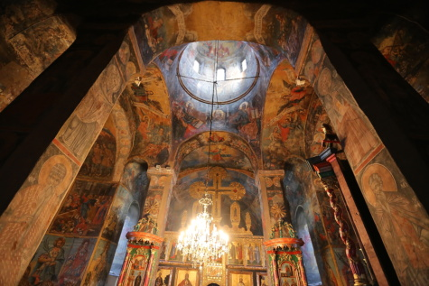 monastery, Byzantine, interior decoration, inside, interior, orthodox, medieval, Serbia, temple, worship