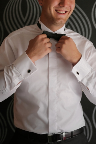 shirt, bowtie, businessman, gentleman, tuxedo suit, pants, garment, professional, man, clothing
