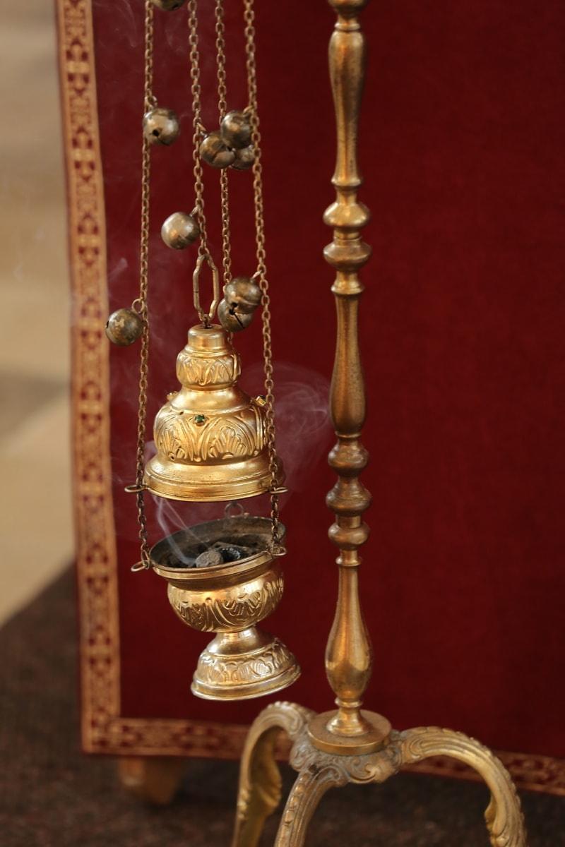 religiöse, geistigkeit, orthodoxe, Objekt, handgefertigte, Kupfer, Messing, Metall, Antik, Bronze