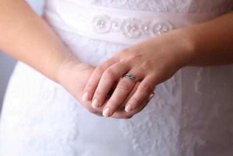リング, 結婚指輪, 花嫁, 指, ケア, 肌, 体, 手, 女性, 愛