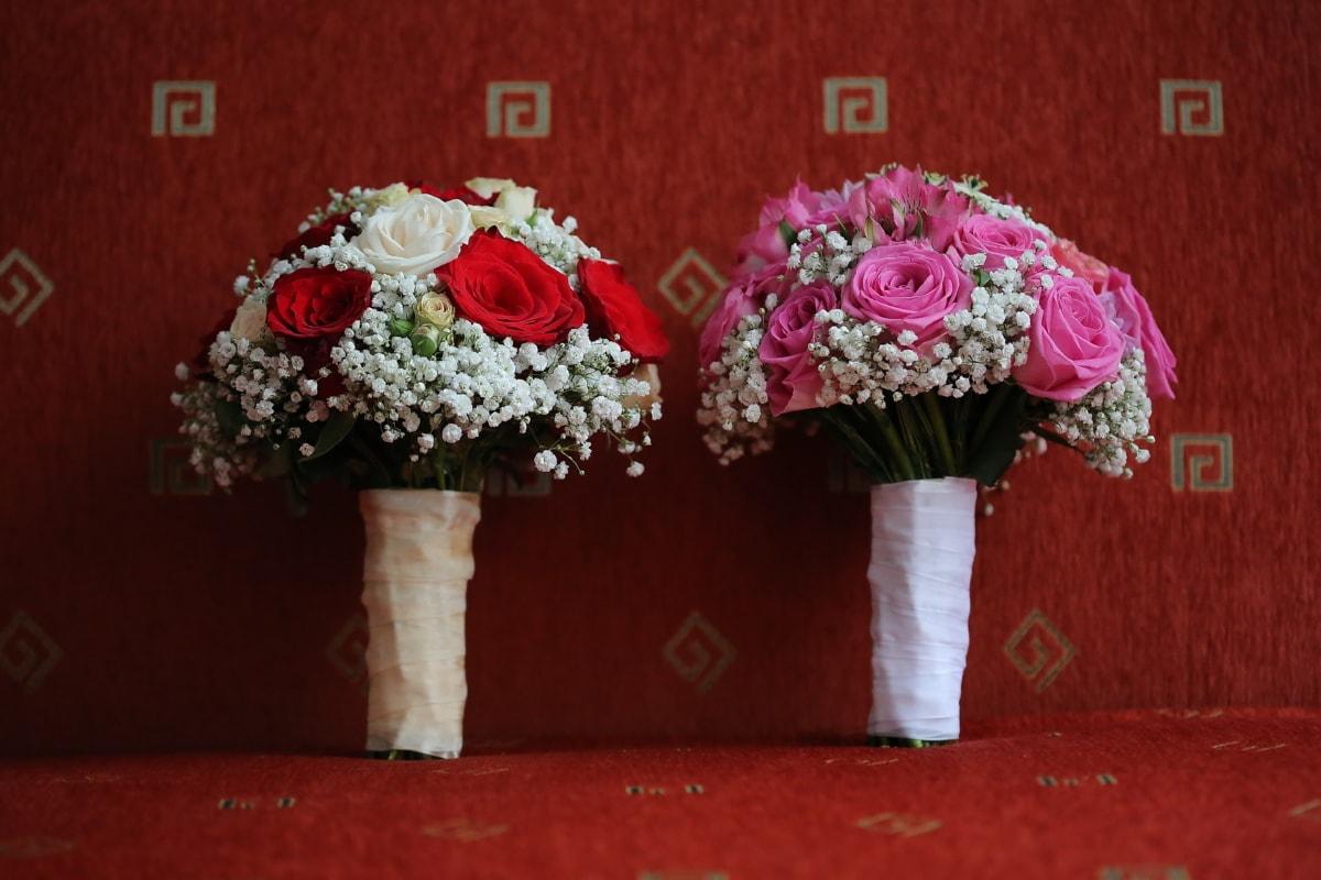 Hochzeitsstrauß, Couch, Wohnzimmer, Blumenstrauß, Blumen, Hochzeit, Blume, Rosen, Liebe, Dekoration