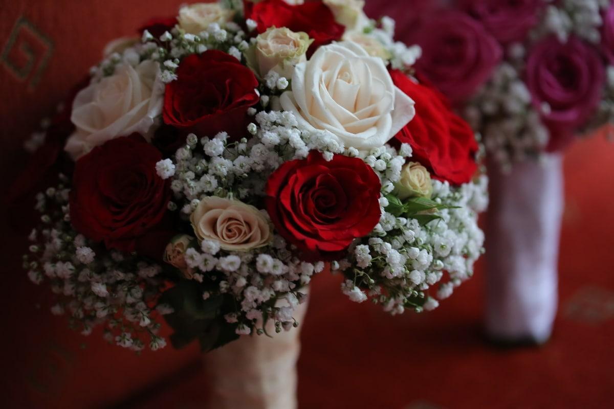bouquet de mariage, bouquet, arrangement, amour, fleur, des roses, décoration, fleurs, mariage, Rose