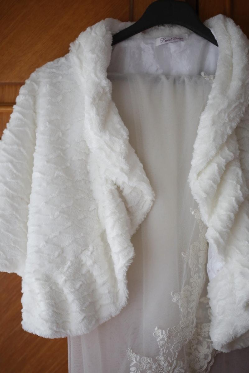 robe de mariée, suspendu, coton, élégance, blanc, mode, mariage, à l'intérieur, élégant, luxe