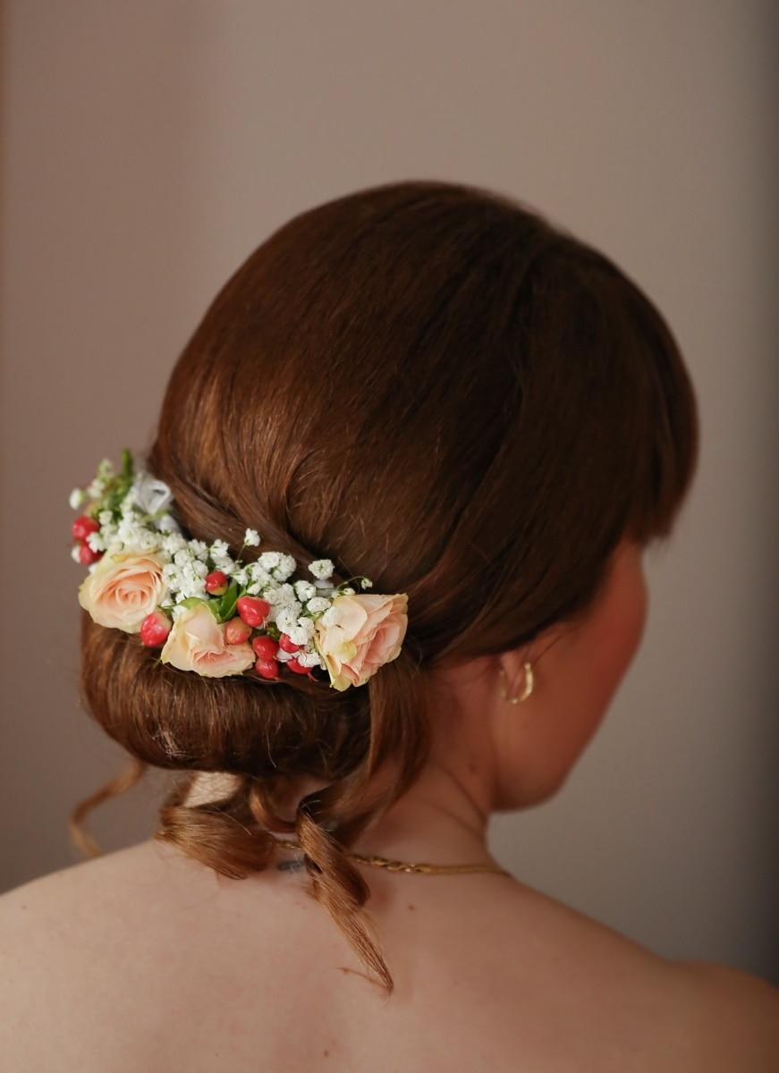 Brunette, Coiffure, cheveux, jeune fille, fleur, modèle, femme, visage, Portrait, postiche
