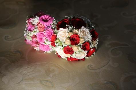 婚礼花束, 束, 优雅, 玫瑰, 柔和, 阴影, 婚礼, 花, 上升, 爱