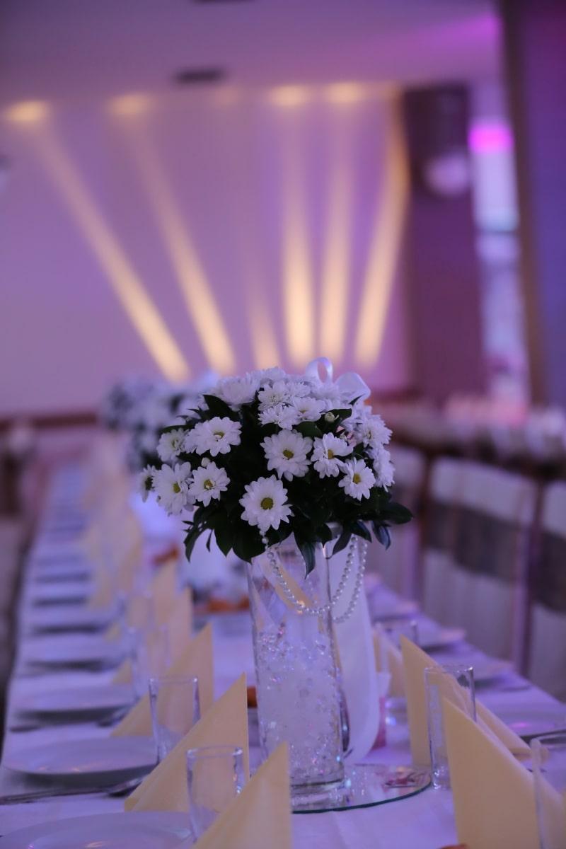 Hochzeitsstrauß, Hochzeitsort, Licht, Restaurant, Interieur-design, Innendekoration, Hochzeit, Blume, drinnen, Sommer