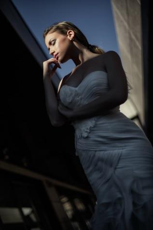 prachtige, vrouw, foto-model, poseren, perspectief, jurk, vertrouwen, elegante, zakenvrouw, meisje