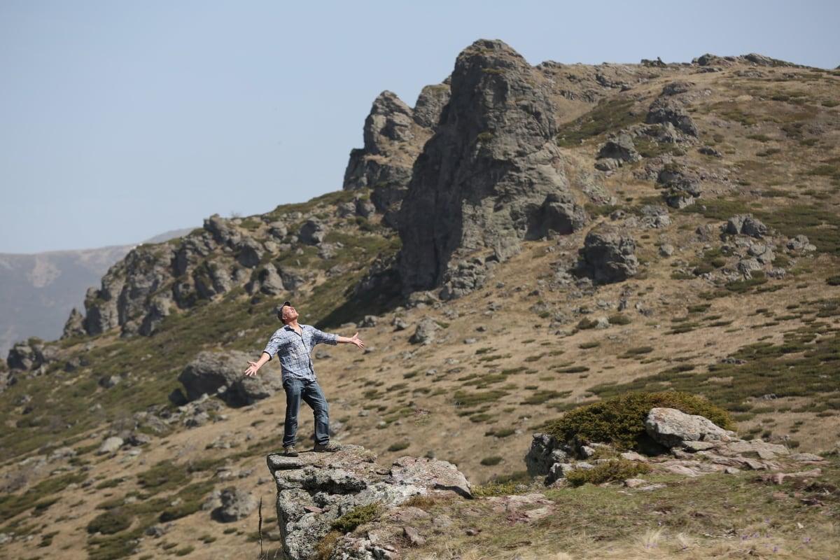 alpinist, alpinist, excursie pe jos, panta, peisaj, stâncă, ascensiune, munte, Munţii, în aer liber