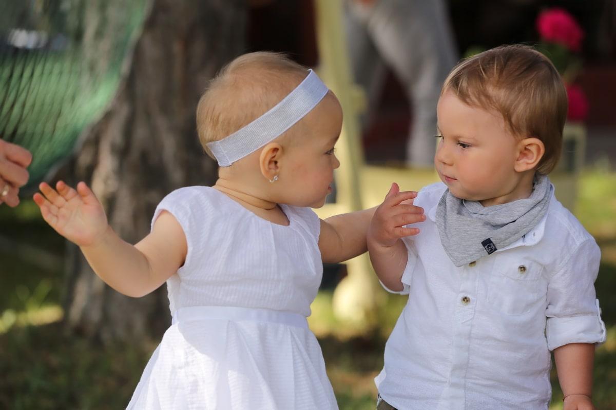 ทารก, พี่ชาย, น้องสาว, มีความสุข, เด็ก, เด็กชาย, เด็ก, พ่อ, ครอบครัว, ในวัยเด็ก