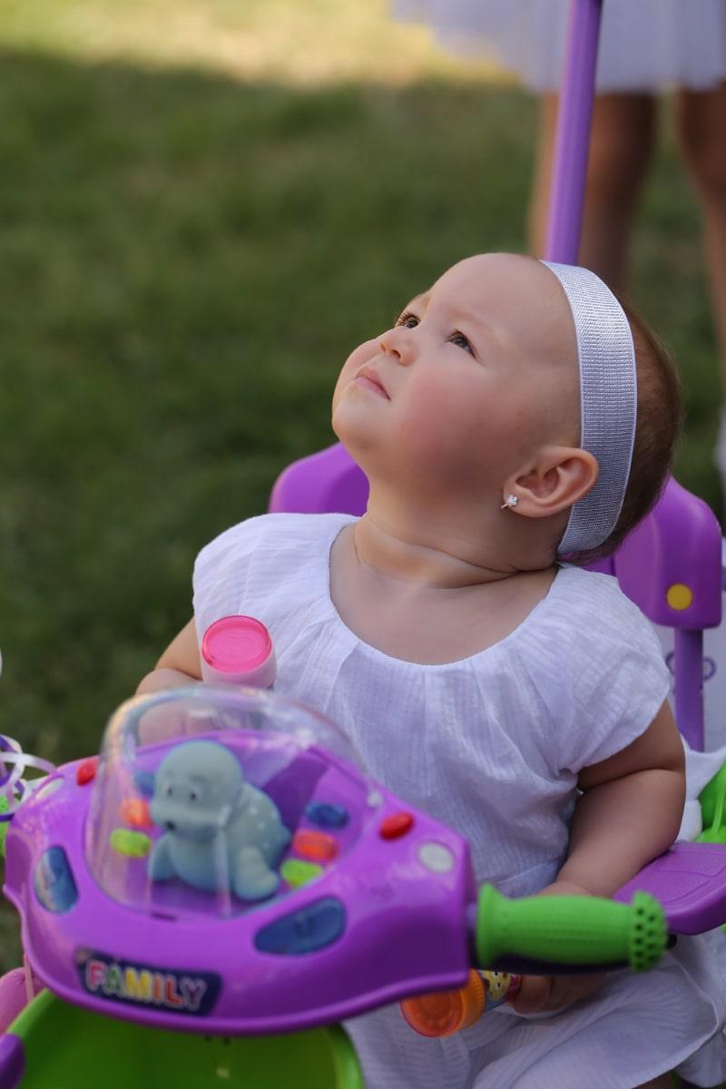 à la recherche, bébé, enfant en bas âge, Portrait, boucles d'oreilles, amusement, enfant en bas âge, heureux, jeune homme, enfant