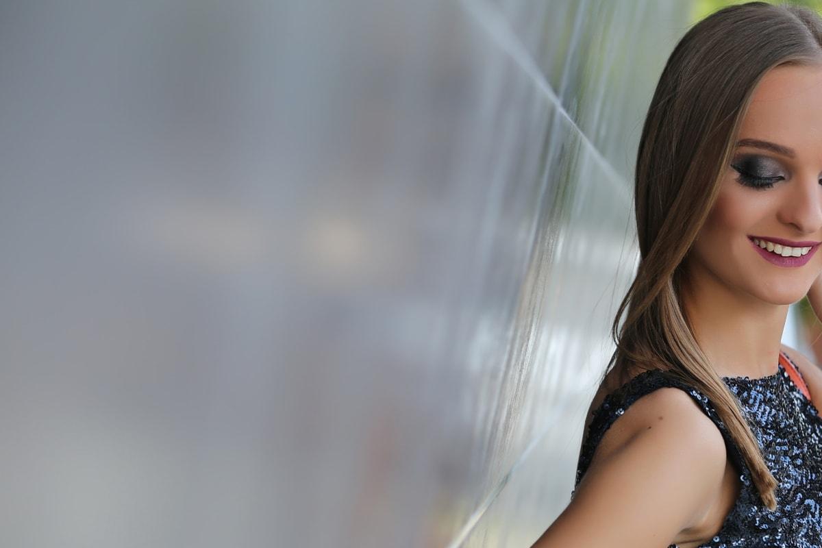 jeune femme, souriant, attrayant, joli, cheveux, Portrait, modèle, mode, visage, personne