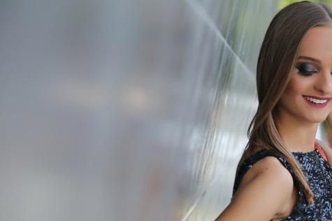 mladá žena, s úsmevom, atraktívne, krásna, vlasy, portrét, model, móda, tvár, osoba