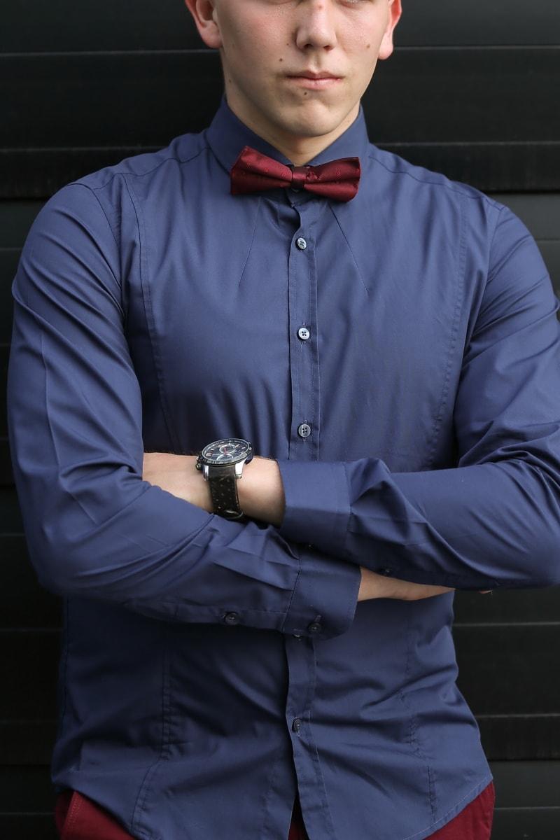 Krawatte Schmetterling, Geschäftsmann, Unternehmer, junge, Gentleman, Armbanduhr, Vertrauen, Anzug, Mann, Porträt