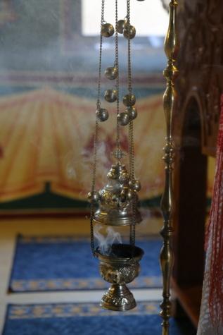 smoke, spirituality, religious, object, christianity, metal, shining, brass, golden glow, gold