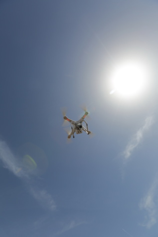 Flyover, dron, enregistrement vidéo, Electronics, surveillance, hélice, air, jet, vol, en volant