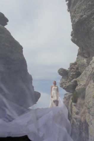 gaun pengantin, pernikahan, fotografi, pegunungan, gurun, pemandangan, tebing, batu, Gunung, batu