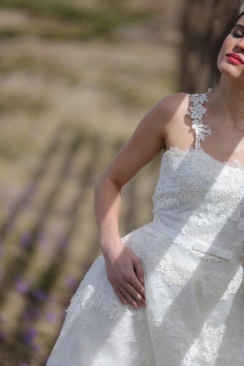 wedding dress, bride, wedding, dress, fashion, pretty, attractive, garment, clothing, model