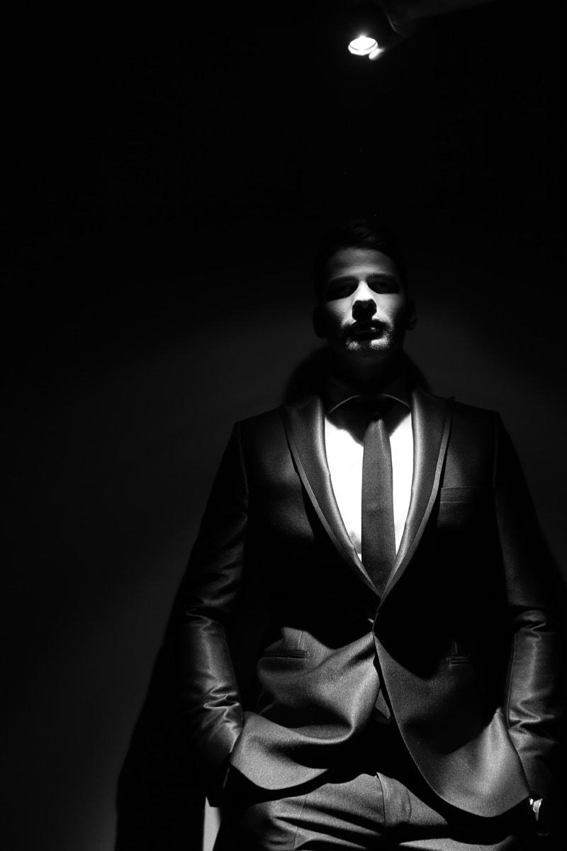 portrait, black, model, studio, fashion, dark, shadow, man, face, people