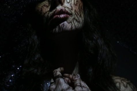bibir, foto model, kegelapan, wanita, lipstik, cantik, kepala, kulit, merapatkan, potret