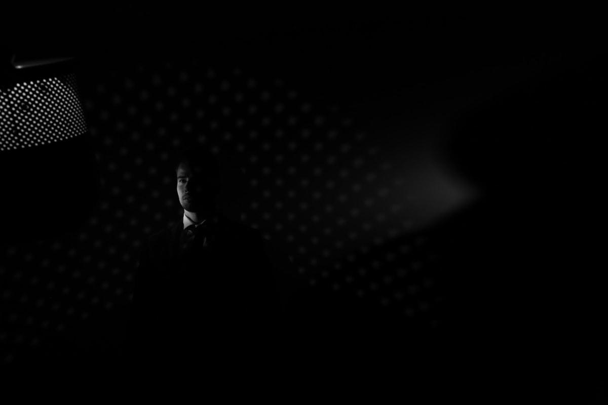 ténèbres, Spotlight, visage, photographie, homme, studio photo, illumination, lumière, modèle photo, ombre