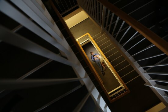 shadow, inside, staircase, stairs, people, romance, art, photography, structure, architecture