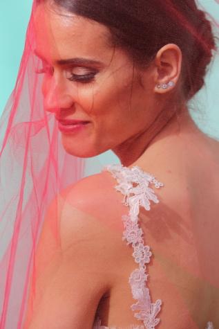 gaun pengantin, Pengantin, tersenyum, kerudung, kemerahan, pengantin pria, pernikahan, potret, wanita, Gadis