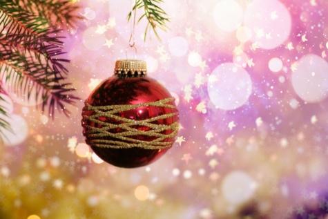 juletræ, gnist, ornament, spektakulære, stjerner, fantasi, dekoration, bold, skinnende, jul