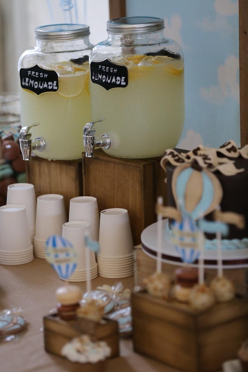 frisk, drik, saftevand, part, fødselsdagskage, mehu, frugtsaft, Cup, træ, hjemmelavet
