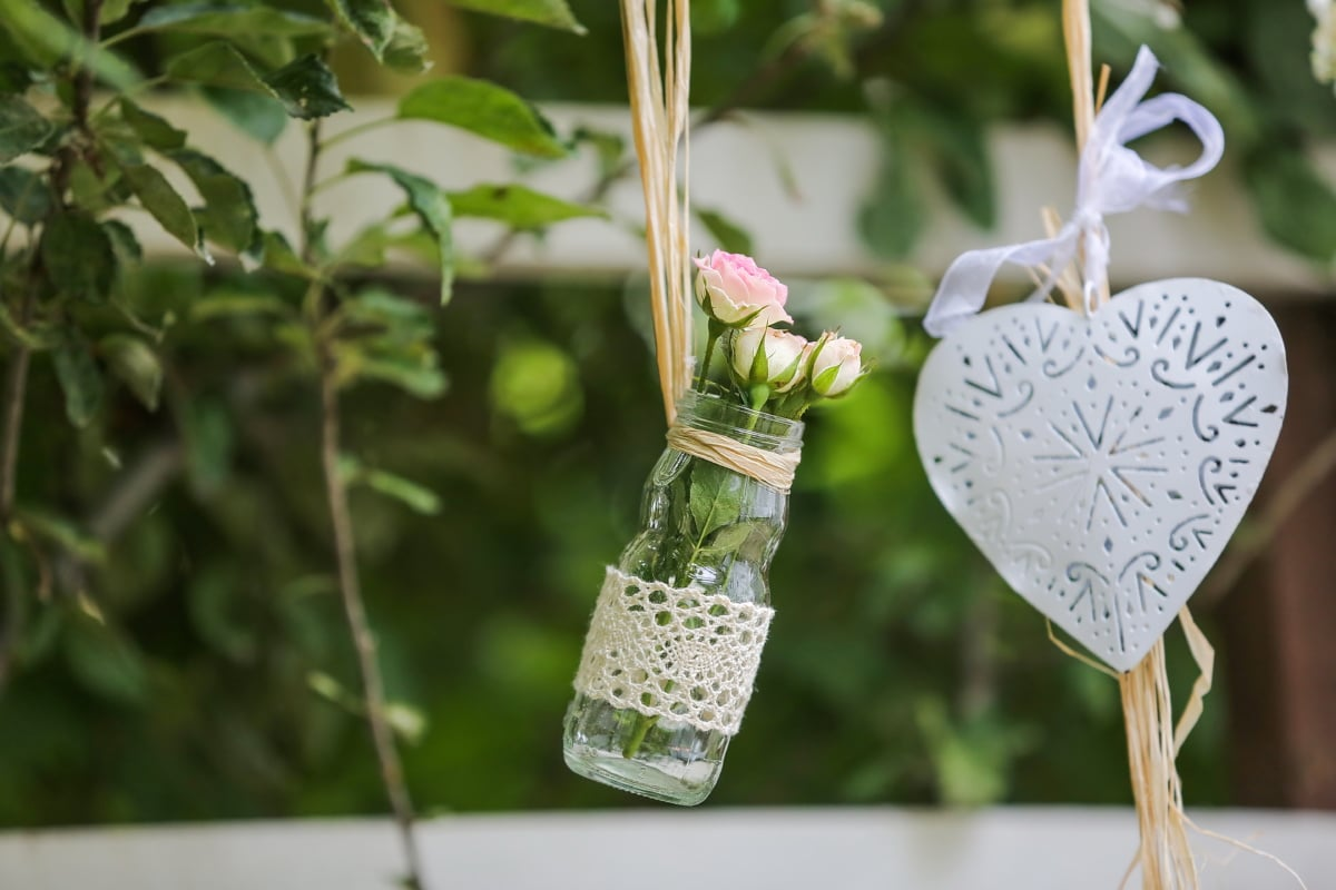 hanging, still life, jar, decoration, Valentine's day, heart, glass, decorative, romantic, handmade