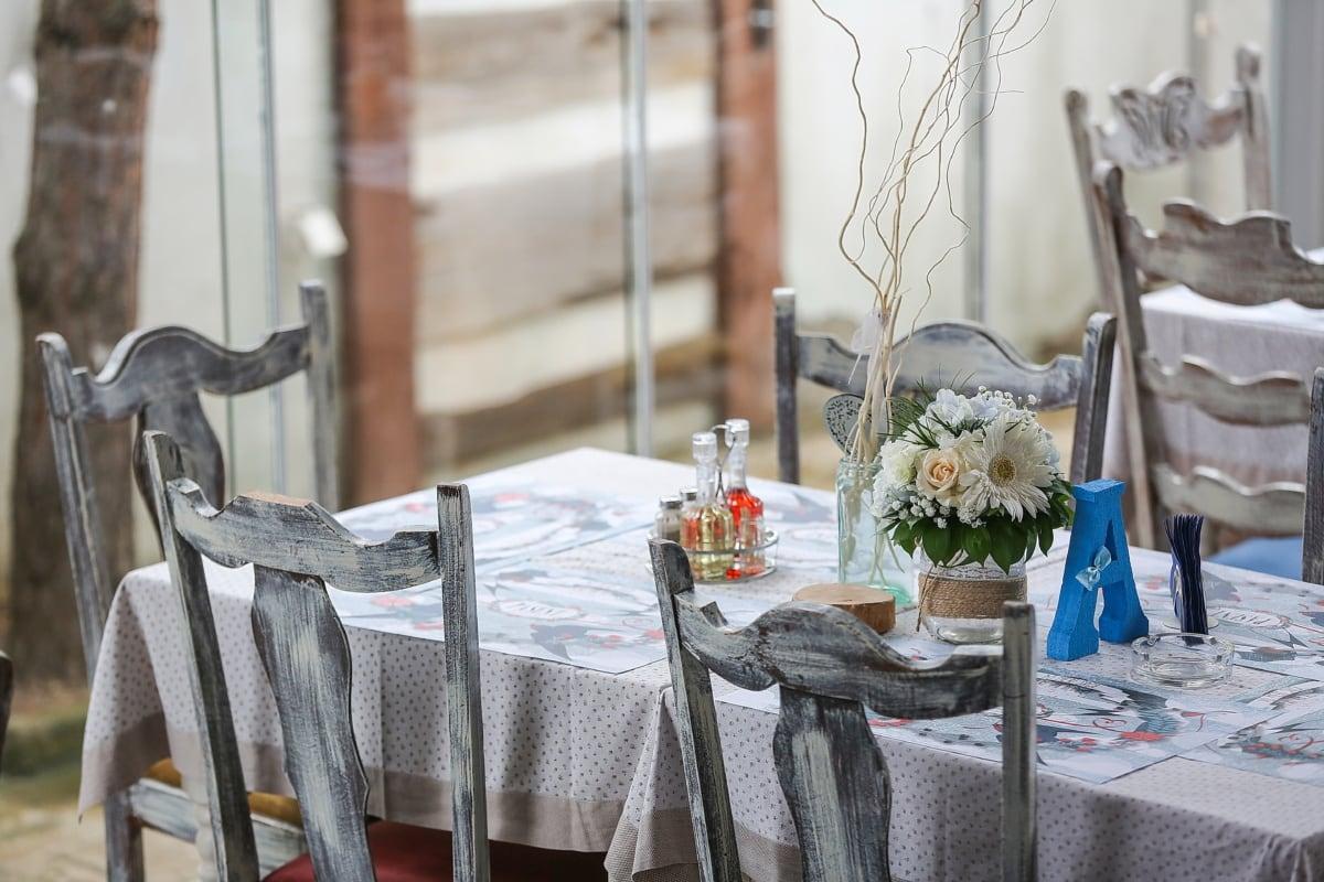 chaise, table, vase, décoration d'intérieur, à manger, meubles, chambre, vaisselle, Design d'intérieur, restaurant