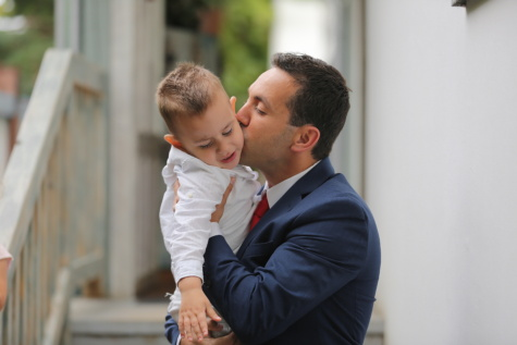 businessman, suit, tie, kiss, son, father, love, business, man, affection