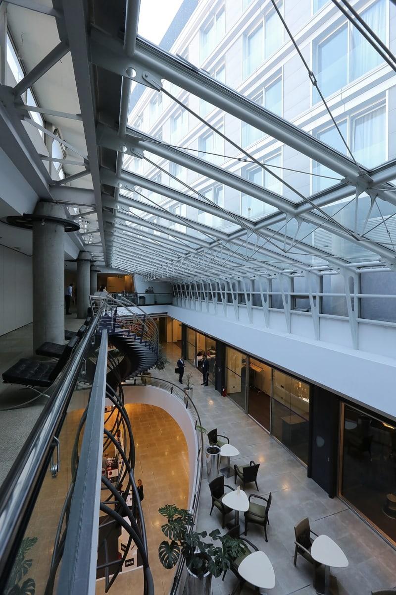 Innenraum, Decke, Baumeister, Atrium, Interieur-design, zeitgenössisch, fenster, Erstellen von, Architektur, Geschäft