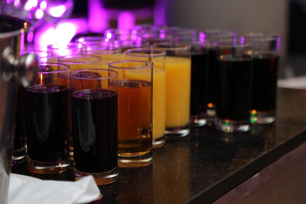 juice, fruit juice, drink, beverage, restaurant, fresh, glass, nightlife, dark, cold