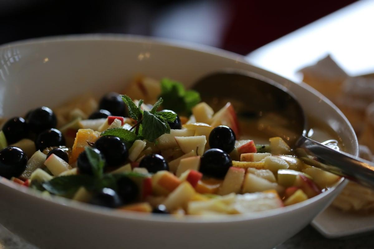 olive, salad bar, salad, bowl, meal, vegetable, dish, food, lunch, dinner