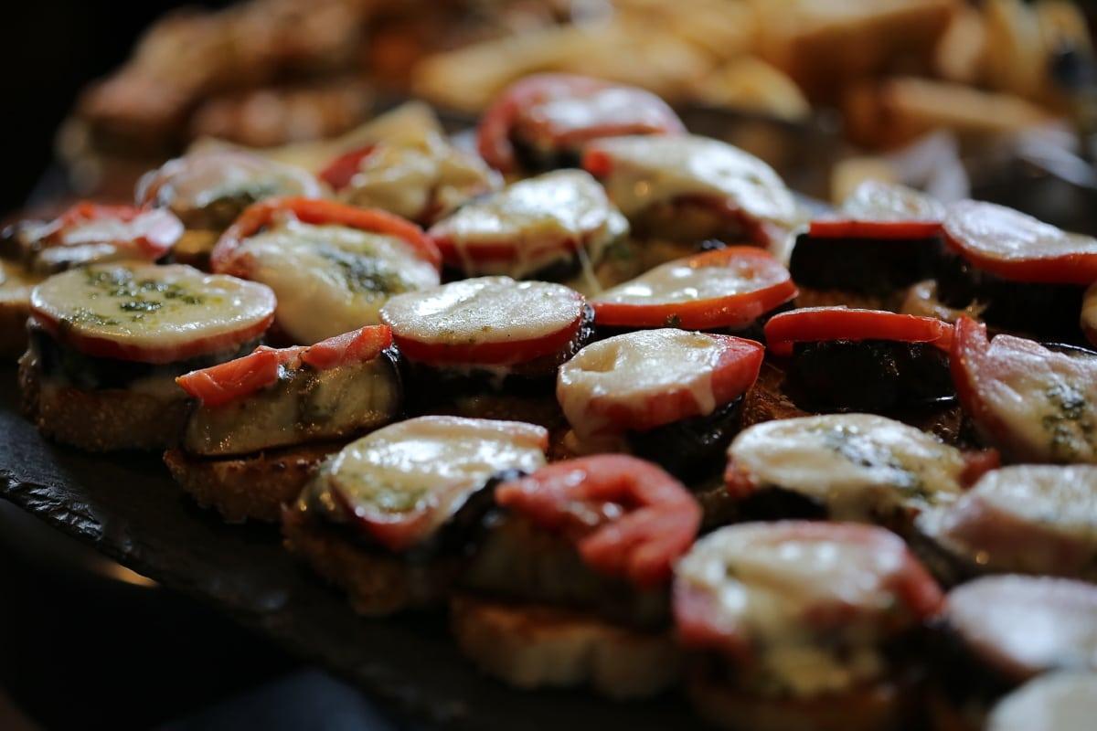 Grill, fromage, service de balises, fermer, dîner, viande, alimentaire, plat, déjeuner, repas