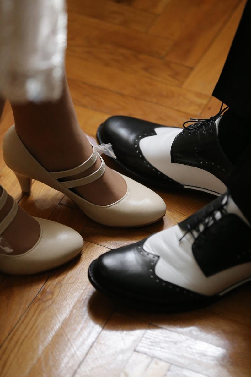 chaussures, mariage, chaussures, mode, en cuir, couvrant, pied, chaussure, vêtements, paire