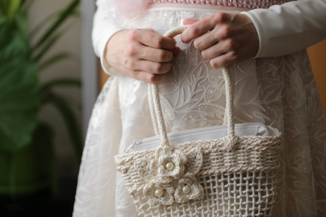handbag, elegant, wedding dress, bride, wedding, woman, fashion, indoors, people, traditional