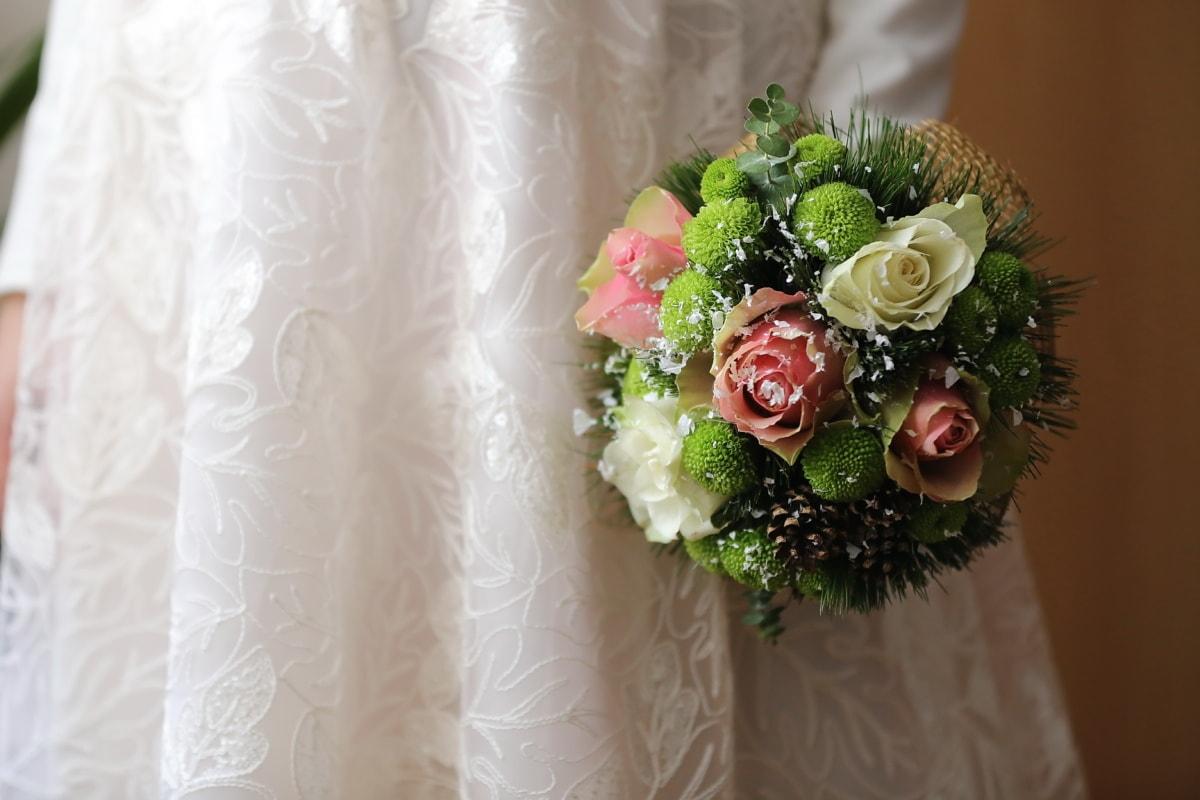 décoration, amour, arrangement, mariage, la mariée, bouquet, mariage, engagement, Rose, fleur