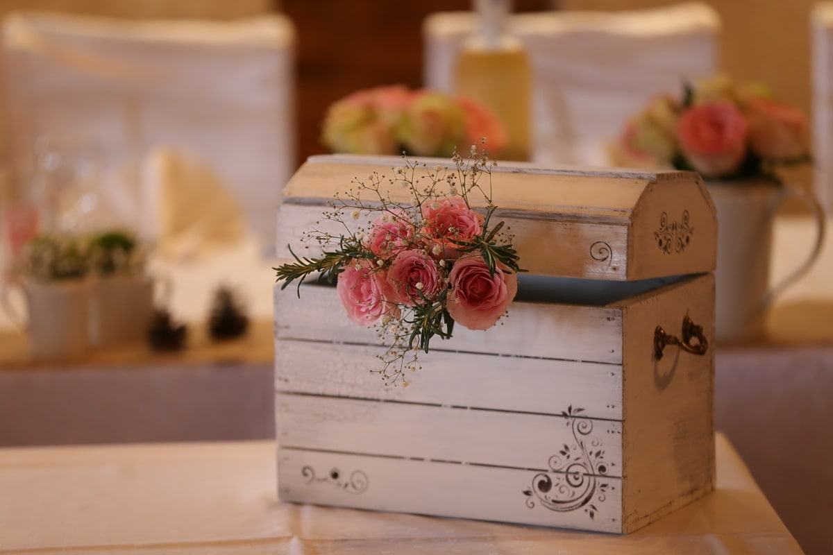 laatikko, puinen, käsintehty, sisustus, koriste, romanttinen, sisätiloissa, Sisustussuunnittelu, puu, retro