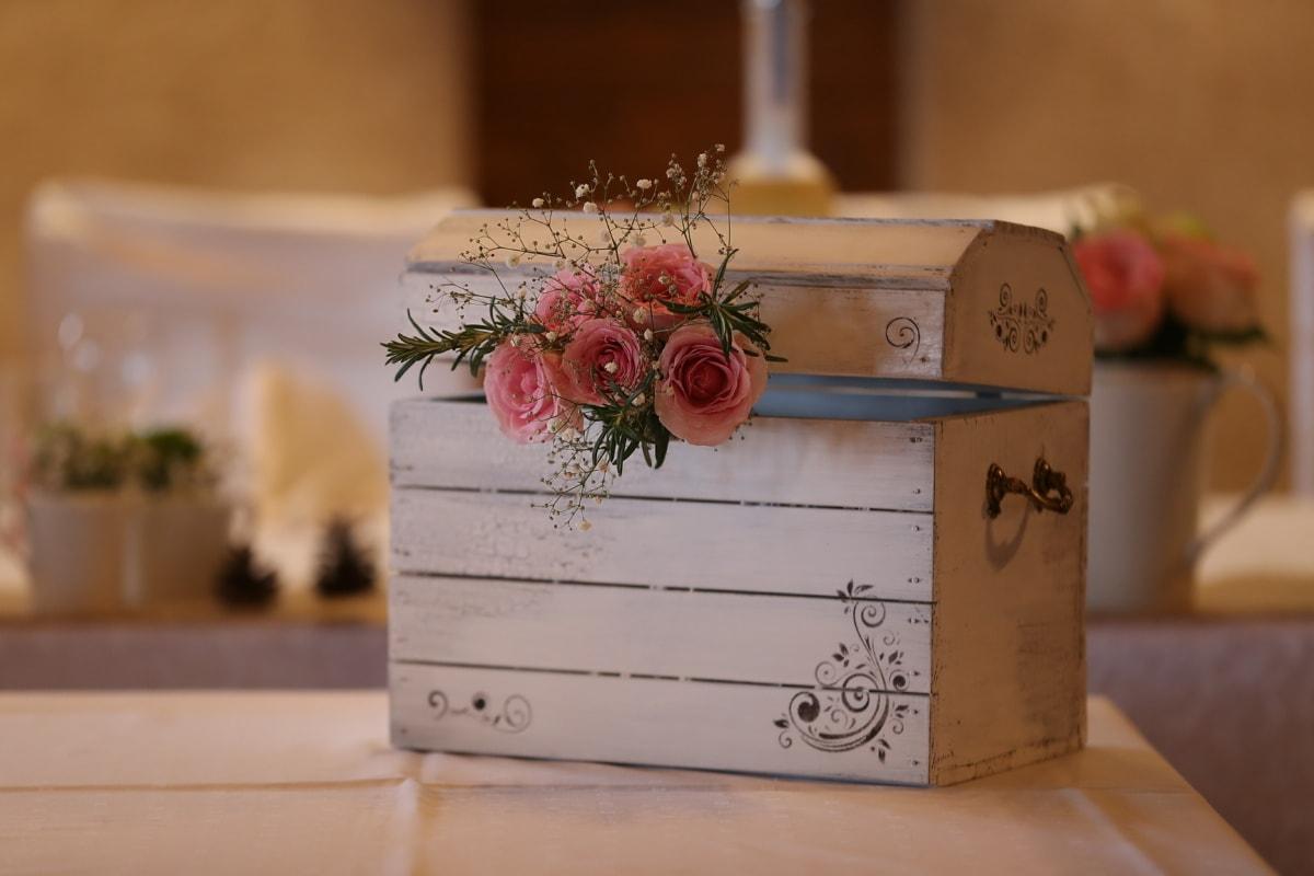 коробка, деревянные, дизайн интерьера, дерево, ретро, грудь, в помещении, мебель, контейнер, натюрморт